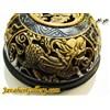 ظرف منقش سنگی بسیار نفیس و زیبا رنگ مشکی و قهوه ای