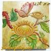 ظرف منقش سنگی بسیار نفیس و زیبا طرح گل و پروانه
