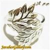 انگشتر نقره زنانه شیک و زیبا طرح برگ