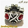 آویز نقره گردنبند و دستبند پاندورا با نگینهای قرمز و طرحی زیبا