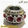 آویز نقره گردنبند و دستبند پاندورا نفیس با نگینهای قرمز
