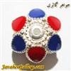 آویز ( حلقه ) نقره دستبند قرمز و آبی لوکس و نفیس درخشان