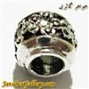 آویز نقره گردنبند و دستبند پاندورا طرح گل با نگینهای سفید رنگی