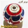 آویز دستبند نقره مردانه و زنانه قرمز آبی زرد زیبا