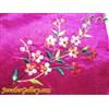 کیف ابریشمی دست دوز بنفش با گلهای رنگارنگ پولک دوزی شده