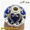 آویز دستبند نقره زنانه و مردانه آبی و قرمز با طرح زیبا