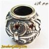 حلقه گردنبند و دستبند نقره پاندورا با سنگهای یاقوت