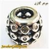 حلقه گردنبند و دستبند نقره پاندورا با سنگهای کوارتز زیبا
