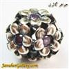 حلقه گردنبند و دستبند نقره پاندورا طرح گل با نگینهای آمیتیست زیبا