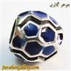 حلقه گردنبند و دستبند نقره پاندورا با رنگ آبی