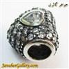 حلقه دستبند و گردنبند نقره پاندورا اصل طرح قلب با نگینهای درخشان کوارتز