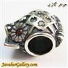 حلقه گردنبند و دستبند نقره پاندورا اصل طرح جغد با نگینهای یاقوت و کوارتز
