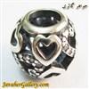 حلقه دستبند و گردنبند نقره پاندورا طرح قلب با نگینهای کوارتز زیبا