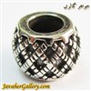 حلقه دستبند و گردنبند نقره پاندورا pandora طرح مشکی و سفید