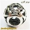 حلقه نقره گردنبند و دستبند pandora پاندورا اصل طرح قلب با سنگهای زیرکن سفید زیبا