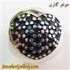 حلقه نقره گردنبند و دستبند pandora پاندورا اصل طرح قلب با سنگهای یاقوت کبود لوکس و زیبا