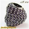حلقه نقره گردنبند و دستبند pandora پاندورا اصل طرح قلب با سنگهای آمیتیست بسیار زیبا