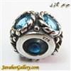 حلقه گردنبند و دستبند نقره پاندورا pandora با نگینهای کوارتز  آبی