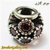حلقه نقره گردنبند و دستبند pandora پاندورا اصل با سنگهای یاقوت درشت و طرح لوکس