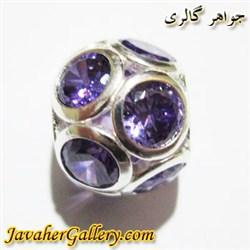حلقه نقره پاندورا با سنگهای آمیتیست زیبا