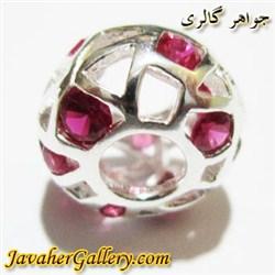 حلقه نقره پاندورا با سنگهای یاقوت زیبا