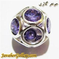 حلقه نقره پاندورا pandora با سنگهای آمیتیست زیبا
