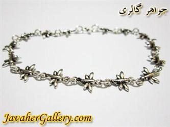 دستبند نقره طرح پروانه