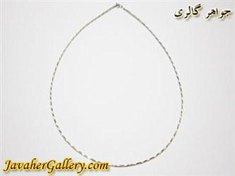 گردنبند (زنجیر) نقره درخشان و زیبا