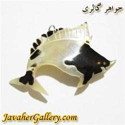 آویز صدف ( حلزون دریایی ) طرح ماهی زیبا