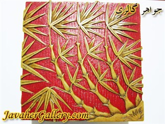 ظرف منقش سنگی بسیار نفیس و زیبا طرح بامبو