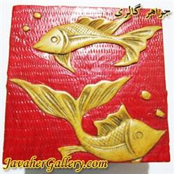 ظرف منقش سنگی بسیار نفیس و زیبا طرح ماهی
