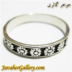 انگشتر نقره مردانه و زنانه شکیل با طرح حلقه زیبا