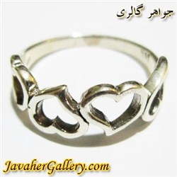 انگشتر نقره دخترانه و زنانه طرح قلب