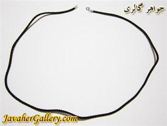 گردنبند نخی و نقره مردانه و زنانه قهوه ای بلند