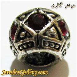 آویز نقره گردنبند و دستبند پاندورا با نگینهای قرمز زیبا