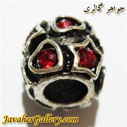 آویز نقره گردنبند و دستبند پاندورا طرح قلب و ستاره با نگینهای قرمز