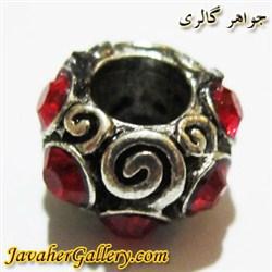 آویز نقره گردنبند و دستبند پاندورا با نگینهای قرمز و طرحی لوکس و زیبا