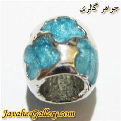 آویز نقره گردنبند و دستبند پاندورا آبی طرح برگ