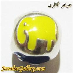 آویز نقره گردنبند و دستبند پاندورا زرد آبی قرمز طرح فیل