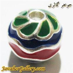 آویز ( حلقه ) نقره دستبند آبی سبز قرمز با طرح زیبا