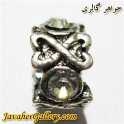 آویز نقره گردنبند و دستبند پاندورا با نگینهای سفید طرح زیبا