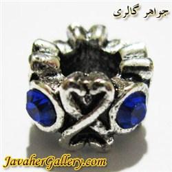 آویز نقره گردنبند و دستبند پاندورا با نگینهای آبی پر رنگ