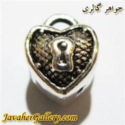 آویز نقره دستبند و گردنبند پاندورا مردانه و زنانه با طرح قفل سیاه قلم