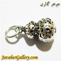 آویز نقره دستبند و گردنبند پاندورا مردانه و زنانه طرح گلابی زیبا