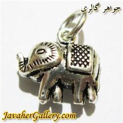 آویز نقره دستبند و گردنبند زنانه و مردانه طرح فیل