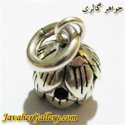آویز دستبند و گردنبند پاندورا نقره زنانه و مردانه طرح گل کوچک
