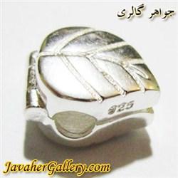 آویز نقره دستبند پاندورا باز شو طرح برگ زیبا