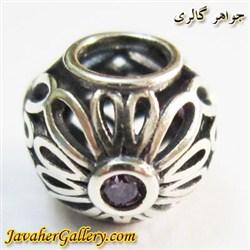 حلقه نقره دستبند و گردنبند پاندورا با سنگهای آمیتیست زیبا