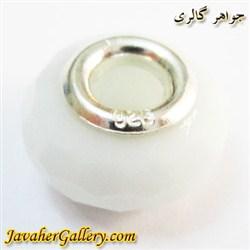 حلقه نقره گردنبند و دستبند پاندورا با کریستال سفید و زیبا