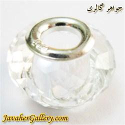 حلقه نقره گردنبند و دستبند پاندورا با کریستال شفاف و درخشان